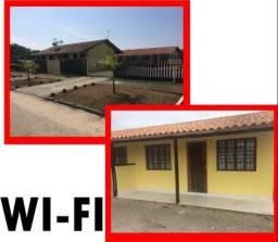 Feriados a 300m da praia com internet em Gtba Coroados