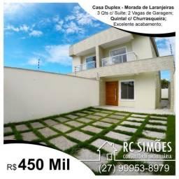 Casa Duplex - 3 Qts c/ Suíte - Morada de Laranjeiras