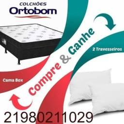 015ef7668 Cama Box Conjugada Casal Dream Spring de Molas Bonnel - Ortobom