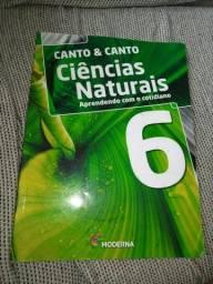 Livro de ciências, ciências naturais Editora Moderna