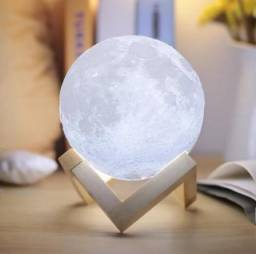Abajur Lua Cheia 3D