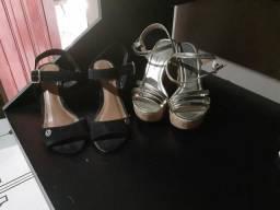 Os dois sapatos por 50,00 vizzano alto e preto sonho de luxo N°35