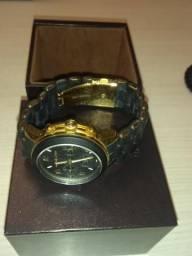ec26261b785 Relógio Michael Kors feminino mod. MK5191 Runway - Preto e Dourado