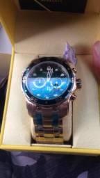 3ebb7139262 2 Relógios invicta pro diver de ouro feminino e masculino