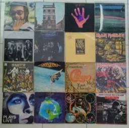 Lote com 31 discos de rock