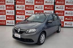Renault sandero 2018 completo + gnv raridade