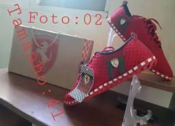 Sapatenis Ferrari Novo Tamanho:41 R$:70,00