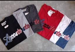 Kit 10 Camisetas masculinas em 100% Algodão Premium