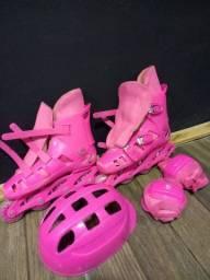 Roller feminino cor de rosa