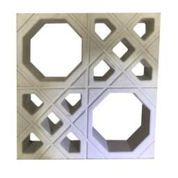 Cobogó, elementos vazados, bloco em concreto, pré moldado, comungol