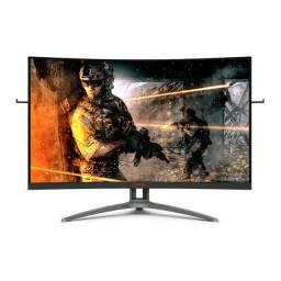 "Monitor AOC Led 31,5"" Agon Curvo 165Hz 1ms Full HD FreeSync - Loja Fgtec Informática"