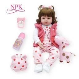 Boneca bebê Reborn NPK corpo de pano Nova Pronta entrega