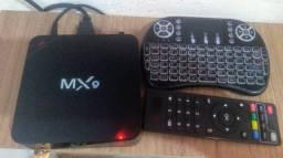 Tv box com teclado completo