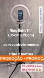 """Tripé com Ring Light 14"""" *Ofertas"""