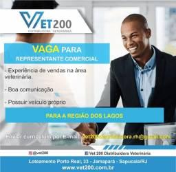Vet 200 - Vaga Representante Comercial
