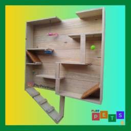Casinha de gato tipo painel playground