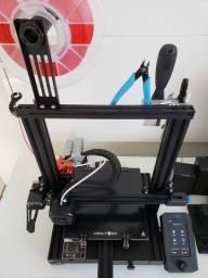 Creality 3D Ender-3 V2 com upgrades - impressora 3d