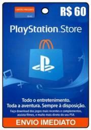 Cartão Playstation R$60,00
