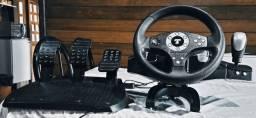 Volante Thrustmaster GT com Force Feedback e pedais