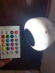 Lâmpada com Som Bluetooth Led RGB