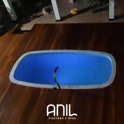 Título do anúncio: JA - Piscina de fibra 4 metros Anil piscinas e Spas