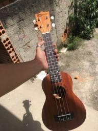 Ukulele soprano acústico madeira natural