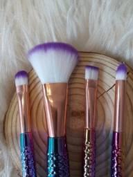 Kit pincel para maquiagem sereia-loja online