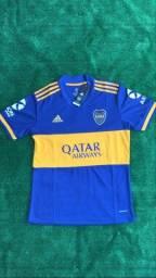 Camisa do Boca Juniors (tecido padrão original)