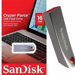 Pendrive 16GB Sandisk Z71 Cruzer Force Metal - Loja Dado Digital