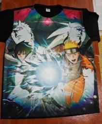 Camisas do anime naruto Todas por 110,00