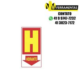 Título do anúncio: Placa Advertência Hidrante Unidade