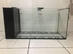 Aquario 200 litros com filtro sexto vidro