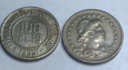 Moeda escassa de 100 Réis 1933