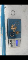 Pulseira de ouro e anel 18k 750