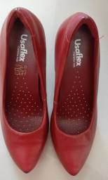 Sapato Scarpan usaflex novo couro tam 35