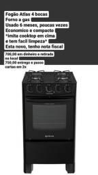 Fogão atlas cooktop 4 bocas com forno