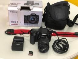 Câmera Canon 70 D mais lente, bolsa, carregador, e Cartão 32gb