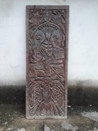 Porta antiga de cedro