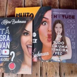 3 livros, 2 livros da Kéfera e 1 da Viih tube
