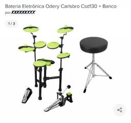 Bateria Eletrônica Odery Carlsbro Csd130 + Banco