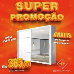 GUARDA-ROUPA COM ESPELHO SAQ