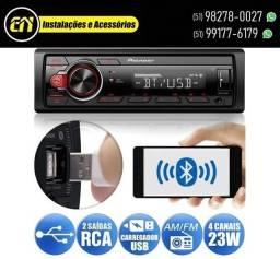 Rádio Pioneer MVH S218BT (Instalado)