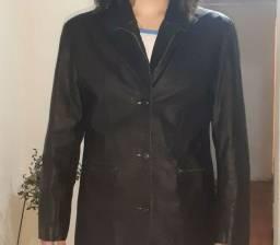 Excelente jaqueta de couro feminina