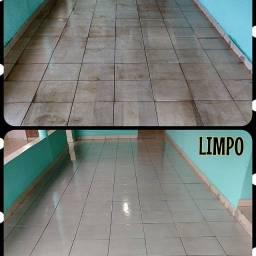 Limpeza pós obra, limpeza de piso, limpeza de calçadas e quintais