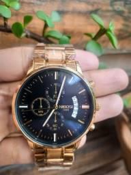 Título do anúncio: Relógio Nibosi Original Dourado Masculino Pronta Entrega 8309