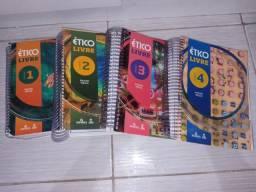 Kit livro completo ético livre ensino médio (1, 2, 3, 4. E complementares)