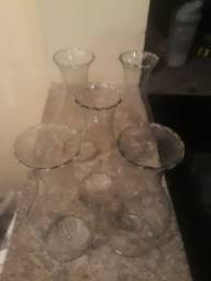 5 Cupulas manga para lampião ou luminaria transparente