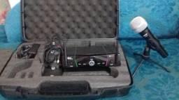 Transmissor AKG Sr 40 Pro Dual (usado) Microfone Shure Sv100 (novo)
