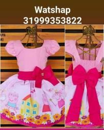 Vestido Peppa Pig Tamanho 1