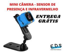 Mini Câmera SQ11 Sensor de Movimento e Infravermelho